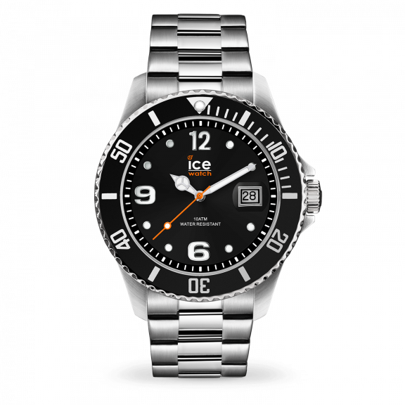 016032 Hodinky ICE WATCH ICE STEEL BLACK SILVER LARGE