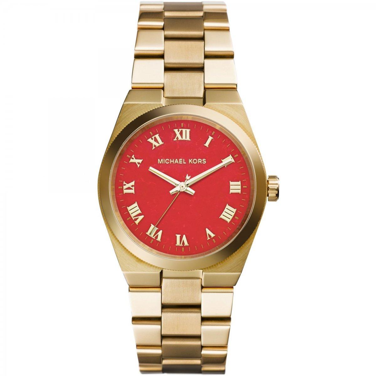 1223d35a8 Galéria Zlato-červené hodinky MICHAEL KORS MK5936×