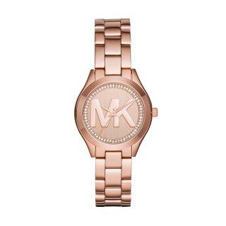MK3549 Ruzove hodiny MICHAEL KORS s monogramom MK