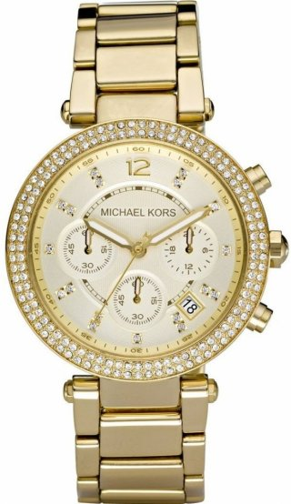 Zlate hodinky MICHAEL KORS so zirkonmi MK5354
