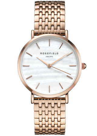 Hodinky ROSEFIELD The Upper East Side White Pearl Rose Gold