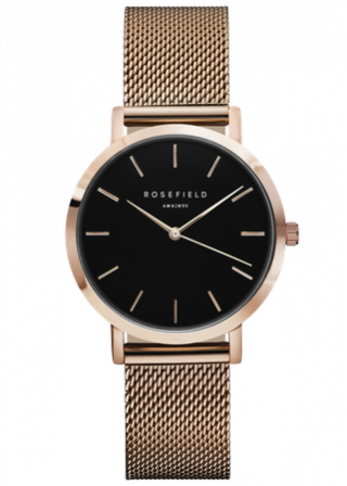 TBR T59 Hodinky ROSEFIELD The Tribeca Black Rose Gold