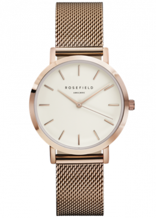 TWR T50 Hodinky ROSEFIELD The Tribeca White Rose Gold