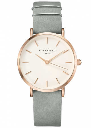 wmgr w74 2 Hodinky ROSEFIELD The West Village Mint Grey Rose Gold