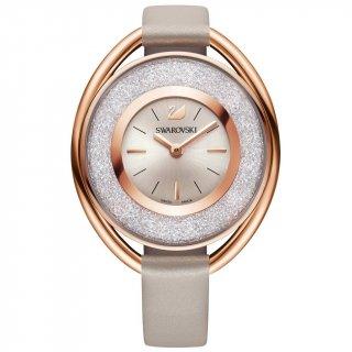 5158544Ovalne ruzovo sede Swarovski hodinky