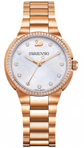 5221176 SWAROVSKI hodinky v ruzovom prevedeni s perleou