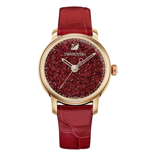 5295380 Hodinky SWAROVSKI Crystalline Red Leather Strap