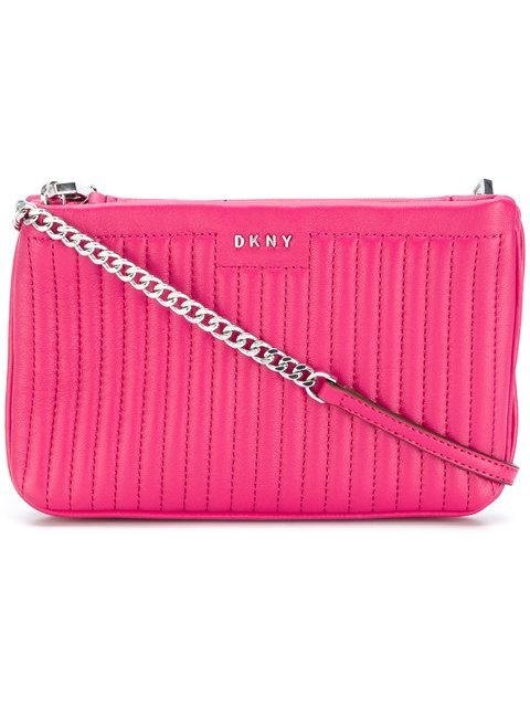 Crossbody kabelka DKNY GANSEVOORT PINSTRIPE MINI DOUBLE CROSSBODY