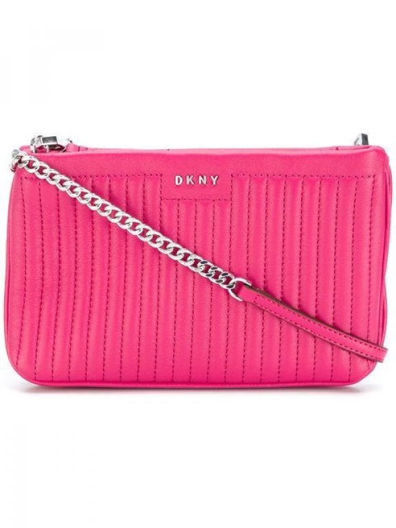 R2108020 694 Crossbody kabelka DKNY GANSEVOORT PINSTRIPE MINI DOUBLE CROSSBODY