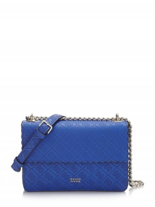 HWSG6962210 BLU GUESS RAYNA CONVERTIBLE CROSSBODY FLAP