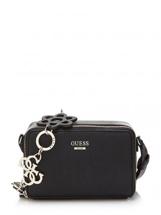 HWVG6957700 BLA GUESS DANIA MINI CROSSBODY TOP ZIP