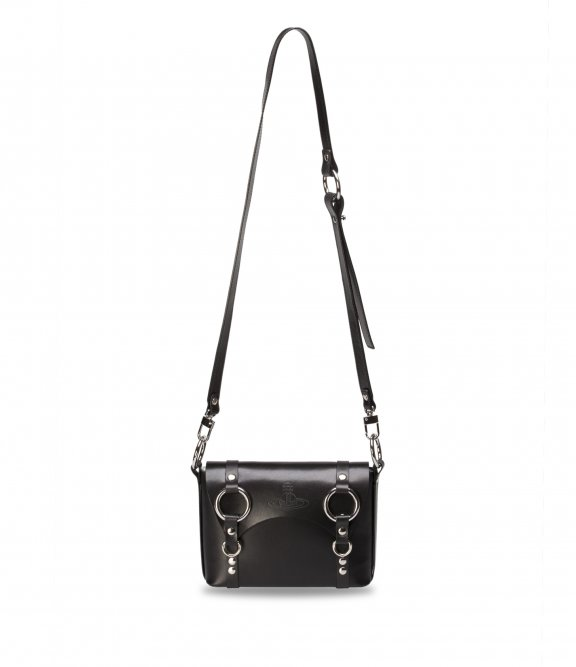 43030024 BLACK VIVIENNE WESTWOOD BETTY MINI SATCHEL BAG