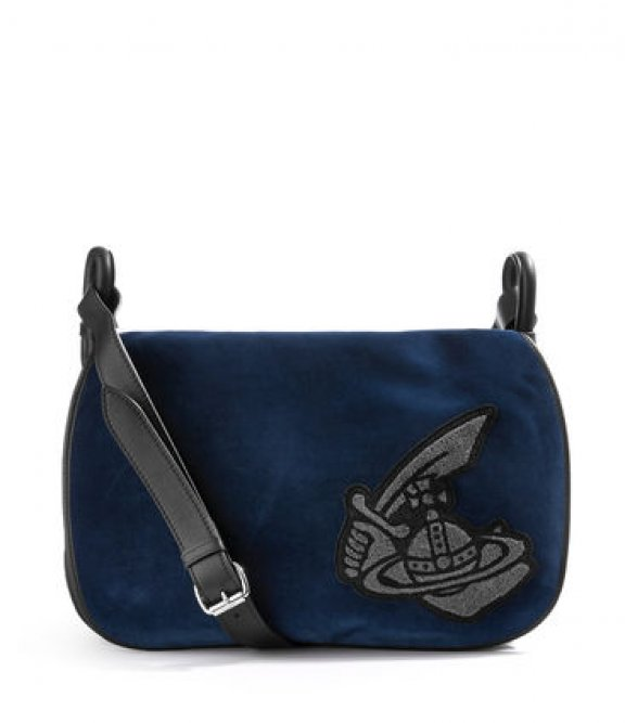 43060002BLACK Crossbody kabelka VIVIENNE WESTWOOD ROBIN SMALL MESSENGER BAG