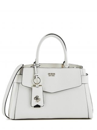HWVG7293060 WHI Kabelka do ruky GUESS COLETTE GIRLFRIEND SATCHEL