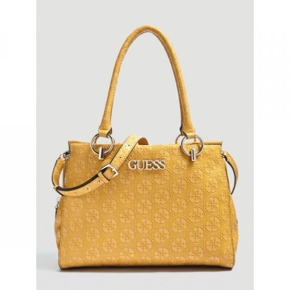 HWSG7178090 MGD Kabelka do ruky GUESS HERITAGE POP LARGE GIRLFRIEND SATCHEL
