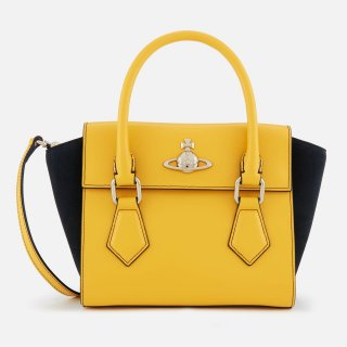 42020035 YELLOW Kabelka do ruky VIVIENNE WESTWOOD MATILDA MEDIUM HANDBAG
