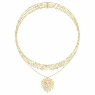 AC3897XKRY Nahrdelnik APM MONACO Yellow Lioness Necklace Multi Chain Necklace