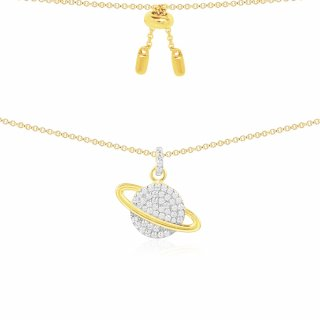 AC3917OXY Nahrdelnik APM MONACO Yellow Planet Necklace