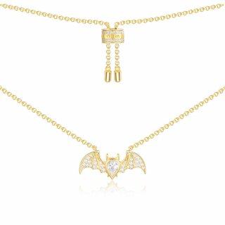 AC4011OXY Nahrdelnik APM MONACO Yellow Flying Bat Necklace