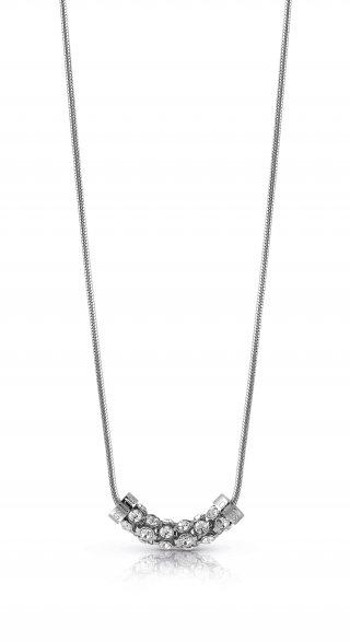 UBN28053 Strieborny nahrdelnik GUESS s kristami