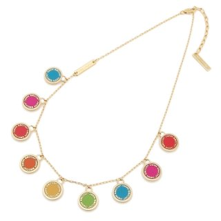M0011497 972 Nahrdelnik MARC JACOBS LOGO DISC RAINBOW STATEMENT NECKLACE