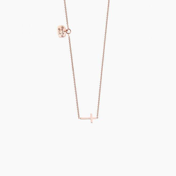 PCRG NCL Nahrdelnik MINTY DOT Rose Gold Petit Cross
