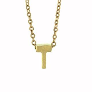 Zlaty nahrdelnik Mvintage s pismenom T