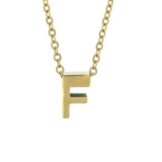 Zlaty nahrdelnik Mvintange s pismenom F