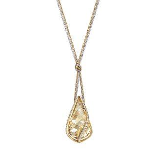 5195924 Nahrdelnik SWAROVSKI s kristalom v zlatom odtieni
