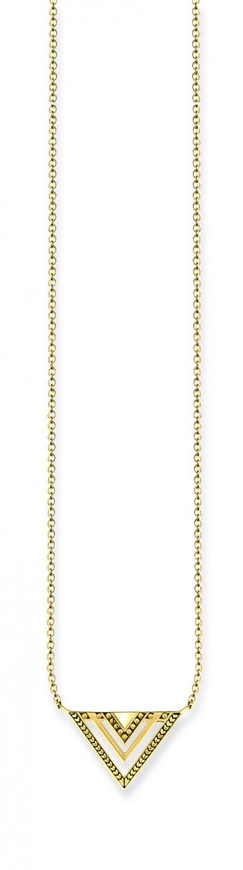 Zlaty nahrdelnik THOMAS SABO s priveskom v tvare trojuholnika KE1568 413 39