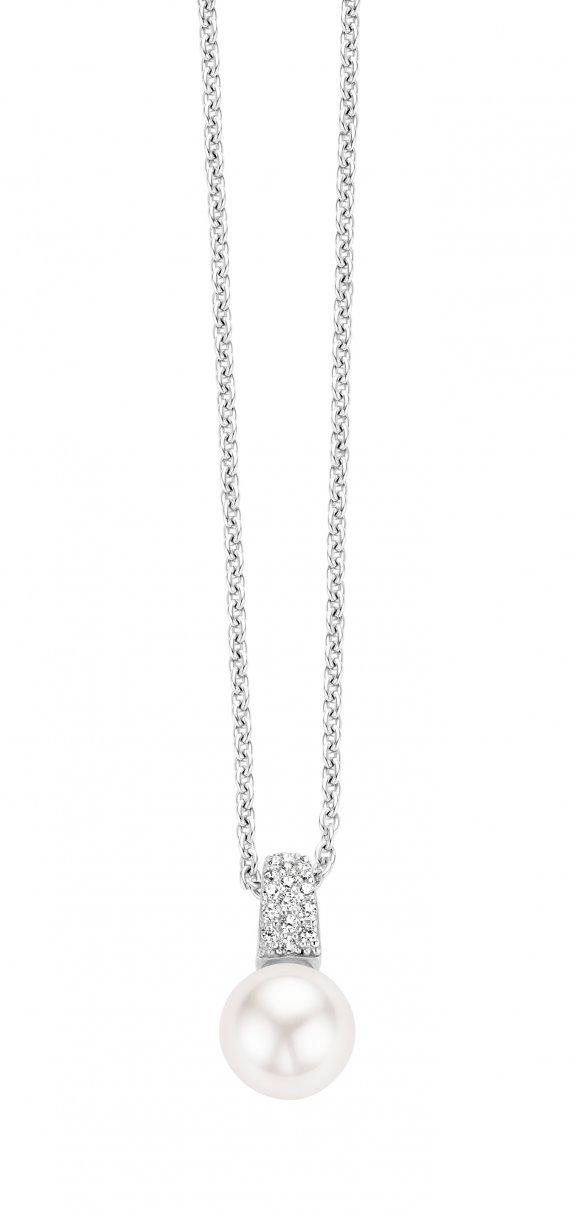 d95d968ad Náhrdelník TI SENTO s perlou a zirkónmi 3877PW/42   MOLOKO