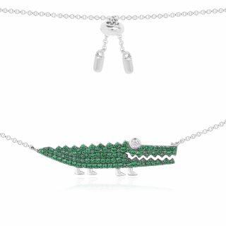 AC3895XKG Nahrdelnik APM MONACO Silver Green Croco