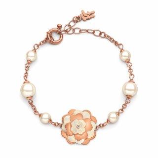2B15T001RWW Ruzovo biely naramok FOLLI FOLLIE s kvetom Santorini