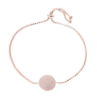 3B17S055RC Discus Rose Gold Plated Adjustable Bracelet