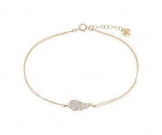 40561G Zlaty naramok GREGIO s anjelskym kridlom