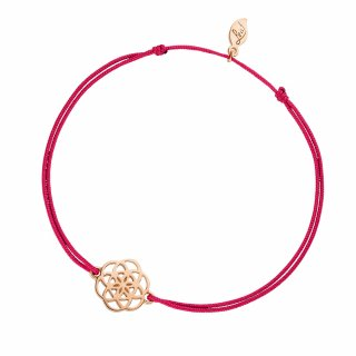 ab8257 fuchsia Fuchsiovo ruzovy naramok LEAF s kvetinou