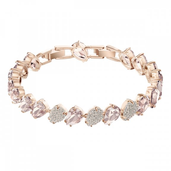 5427973 Naramok SWAROVSKI MIX BRACELET PINK ROSE GOLD PLATING