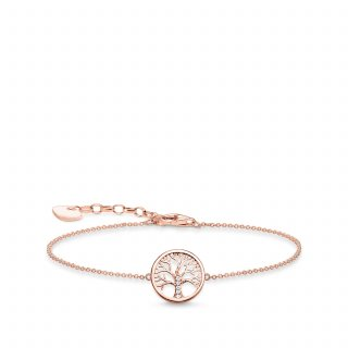 A1828 416 14 Naramok THOMAS SABO TREE OF LOVE PINK