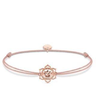 LS016 898 19 Ruzovo bezovy naramok THOMAS SABO s lotosovym kvetom