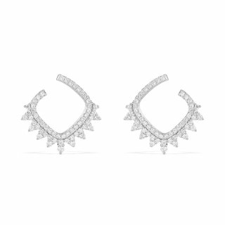AE10339OX Nausnice APM MONACO Dentelle Silver Earrings