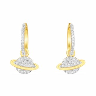AE10558OXY Nausnice APM MONACO Yellow Planet Earring In Pair