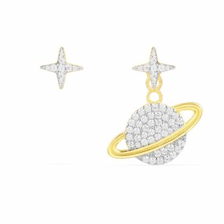 AE10559OXY Nausnice APM MONACO Asymetric Yellow Planet Earring Set