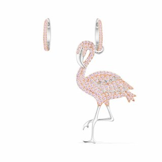 AE10582ORW Nausnice APM MONACO Pink Flamingo Asymmetric Earrings