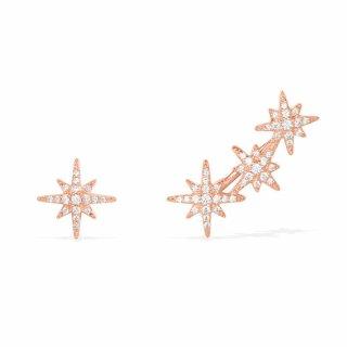 RE10118OX Nausnice APM MONACO Meteorites Rose Asymmetric Earring Set