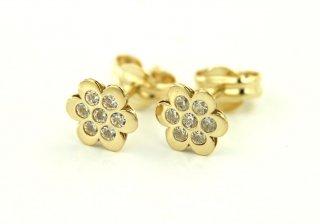 30212 Detske nausnice CRISOLAR zlate kvetinky