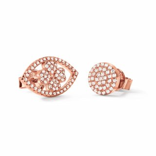 3E18S016RC Nausnice FOLLI FOLLIE Heart4Heart Mati Rose Gold Plated Stud Earrings