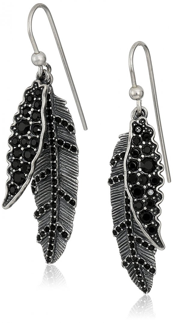 M0009779 088 Nausnice MARC JACOBS DARK PLUMS DROP EARRINGS