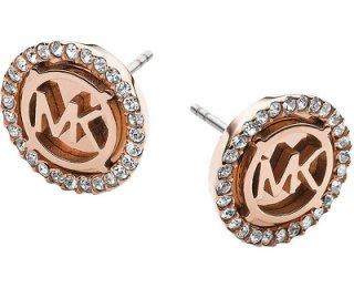 michael kors pozlacene luxusni nausnice s logem a krystaly mkj2942791 14290441