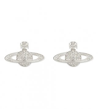BE1052 Nausnice VIVIENNE WESTWOOD LOGO EARRINGS