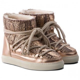 70203 8 W COPPER Cizmy INUIKII WOMEN SNEAKERS GALWAY WEDGE